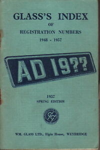Glass-039-s-Index-of-Registration-Numbers-1948-1957-Spring-Edition-1957