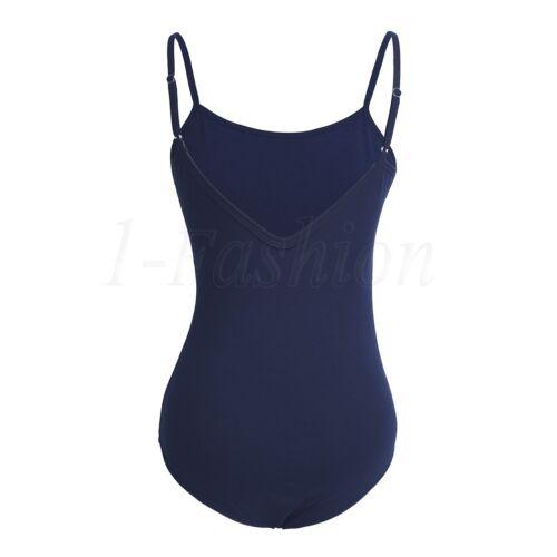 Damen Body Spaghettiträgern Stringbody Baumwolle Bodysuit Formbody Tanzbody