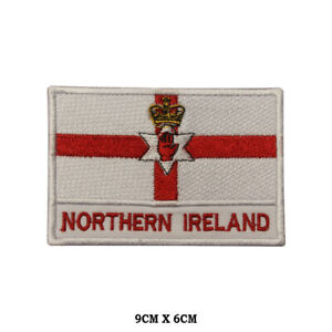 Northern-Ireland-National-Flag-Embroidered-Patch-Iron-on-Sew-On-Badge