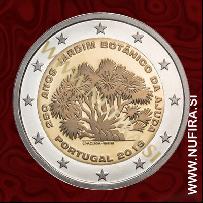 UNC PORTUGAL 2 EURO 2018 Commemorative 2 euro coin Ajuda Botanical Garden