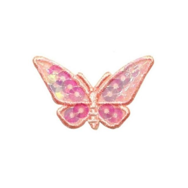 ID 2252 Sequin Butterfly Patch Sun Fairy Bug Insect Embroidered Iron On Applique