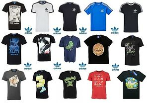 Adidas-Originals-Mens-Casual-Black-Grey-White-Navy-T-Shirts-All-Sizes