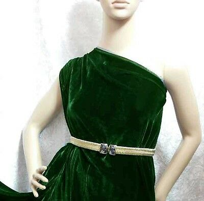 By Yard Grade AAAAA Silk Velvet Fabric Clothing Material Classic Emerald Green