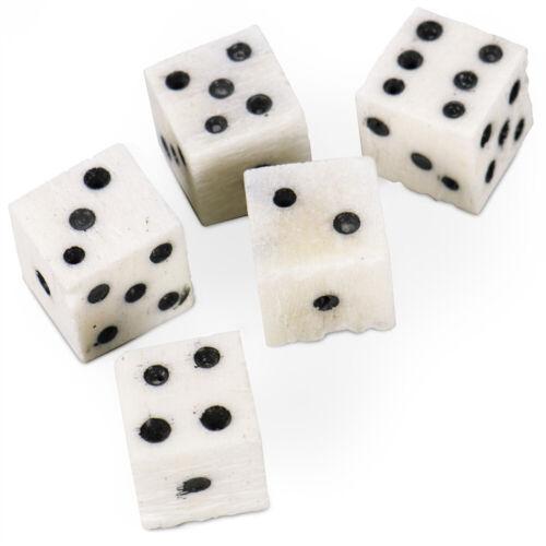 Luck of the Lich Bone DiceSet of 5 Camel Bone DicePremium Gaming Accessory