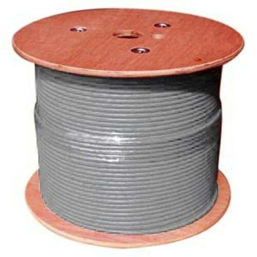 CAT 6a BULK ETHERNET CABLE 1000 FT STRANDED SHIELDED GRAY