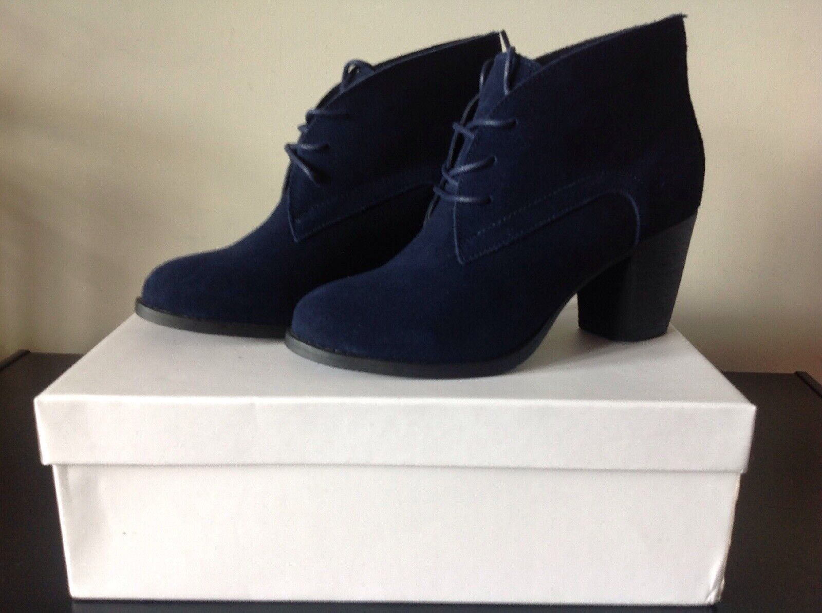 MODA & PELLE PELLE PELLE BILIST NAVY SUEDE LACE UP DERBY BOOT UK5 BNIB e4564e