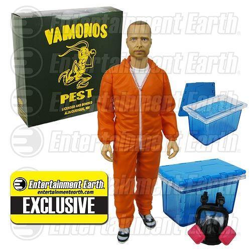 AMC Exclusive breaking bad JESSE PINKMAN Orange Hazmat Vamonos Pest Costume Mezco
