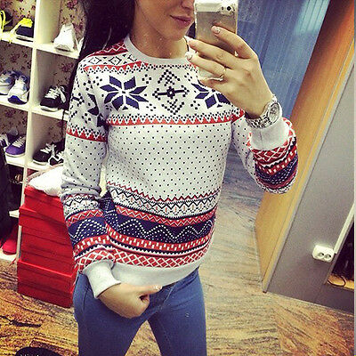 Stylish Women Long Sleeve Casual Knit Crew Neck Pullover Loose Sweater Knitwear