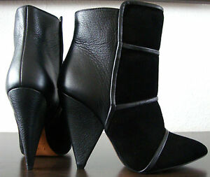 Nuovo Stivaletti neri pelle Stivaletti in Stivaletti Iro Gr mezzo 36 scarpe gxqgfp