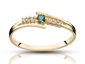 14k-Smaragd-Ring-585-Gold-Ring-Gold-Verlobungsring-14k-Diamant-Ring