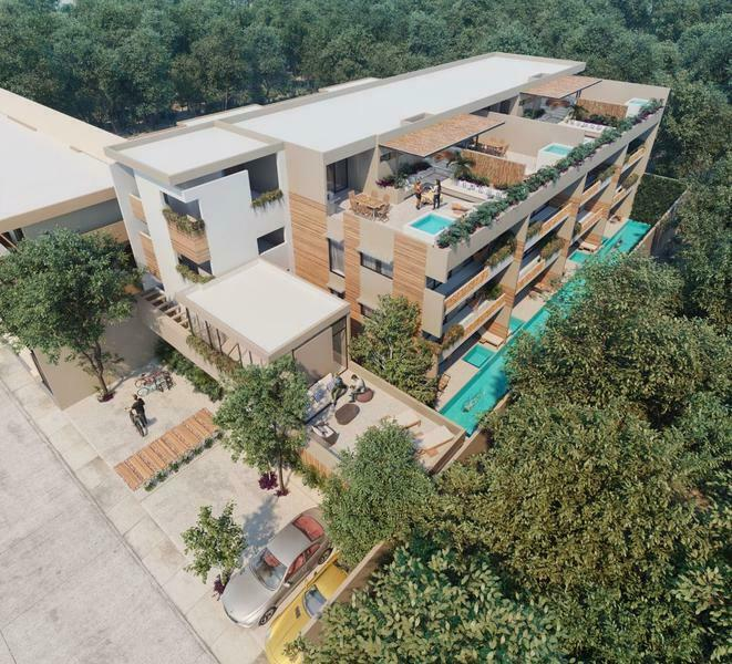 Departamento en venta nuevo en  Aldea Zama Tulum (388)
