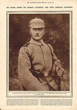 1915 WWI PRINT ~ NEW GERMAN UNIFORM FIELD-GREY BUTTONLESS TUNIC SPIKELESS HELMET