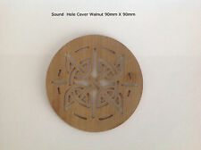 Cigar Box Guitar Sound Hole Cover Walnut 90mm