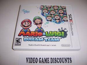 Original Box Case For Nintendo 3ds Mario Luigi Dream Team No