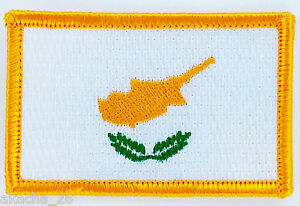 Patch Ecusson Brode Drapeau Chypre Thermocollant Neuf Flag Patche Ibwfcoqp-08002653-136466920