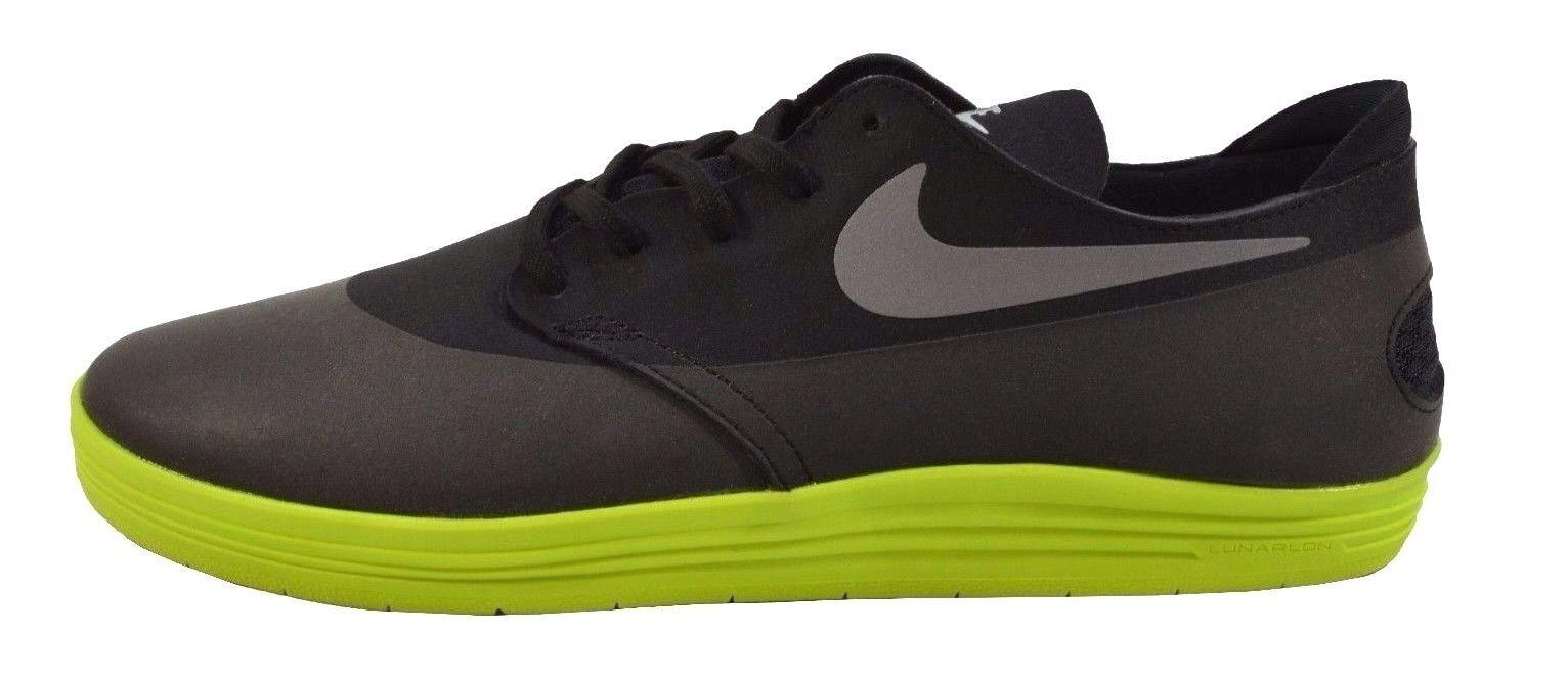 Nike LUNAR ONESHOT Black Reflect Silver Volt 631044-009 Skate (QS1) Men's Shoes
