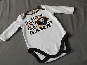 Image is loading NEW-Pittsburgh-Steelers-Football-One-Piece-Bodysuit-Outfit- 1490a8915
