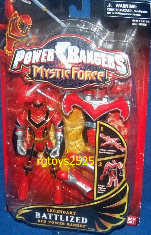 Power rangers mystische kraft legendären battlized rot power ranger neu, titan - modus