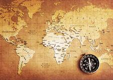 POSTER A4 PLASTIFIE-LAMINATED(1 FREE/1 GRATUIT)* CARTE DU MONDE. WORLD MAP.