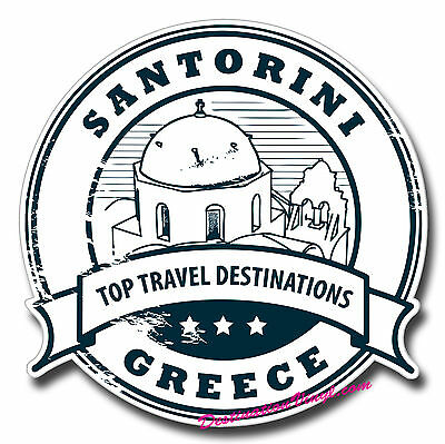 2 x Glossy Vinyl Stickers - Santorini Greece Travel Fun Laptop Decal #0158