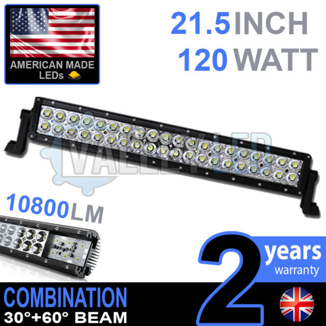 "20"" 120w LED Light Bar Combo IP68 XBD Driving Light Alloy Off Road 4WD Boat"