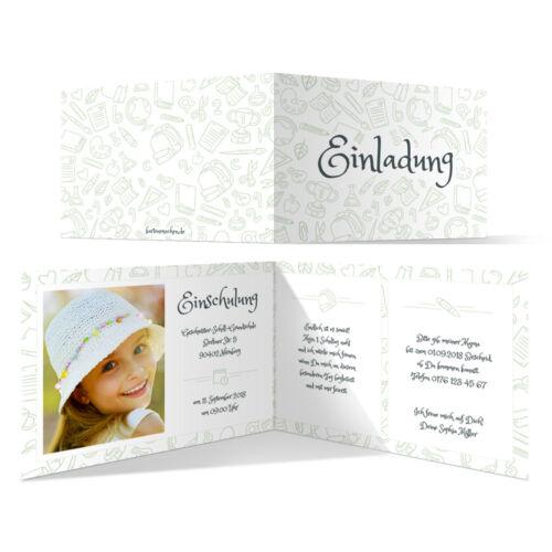 Tecnológico tarjetas de invitación einschulungskarten las clases set-multidisciplinar