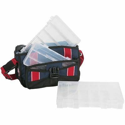 Flambeau Fishing Kwikdraw Soft Sided Tackle Bag / Box - Includes 3 Boxes - NEW!
