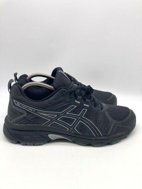 Asics Gel Venture 7 Mens Hiking Trail Running Shoes Black Size 8