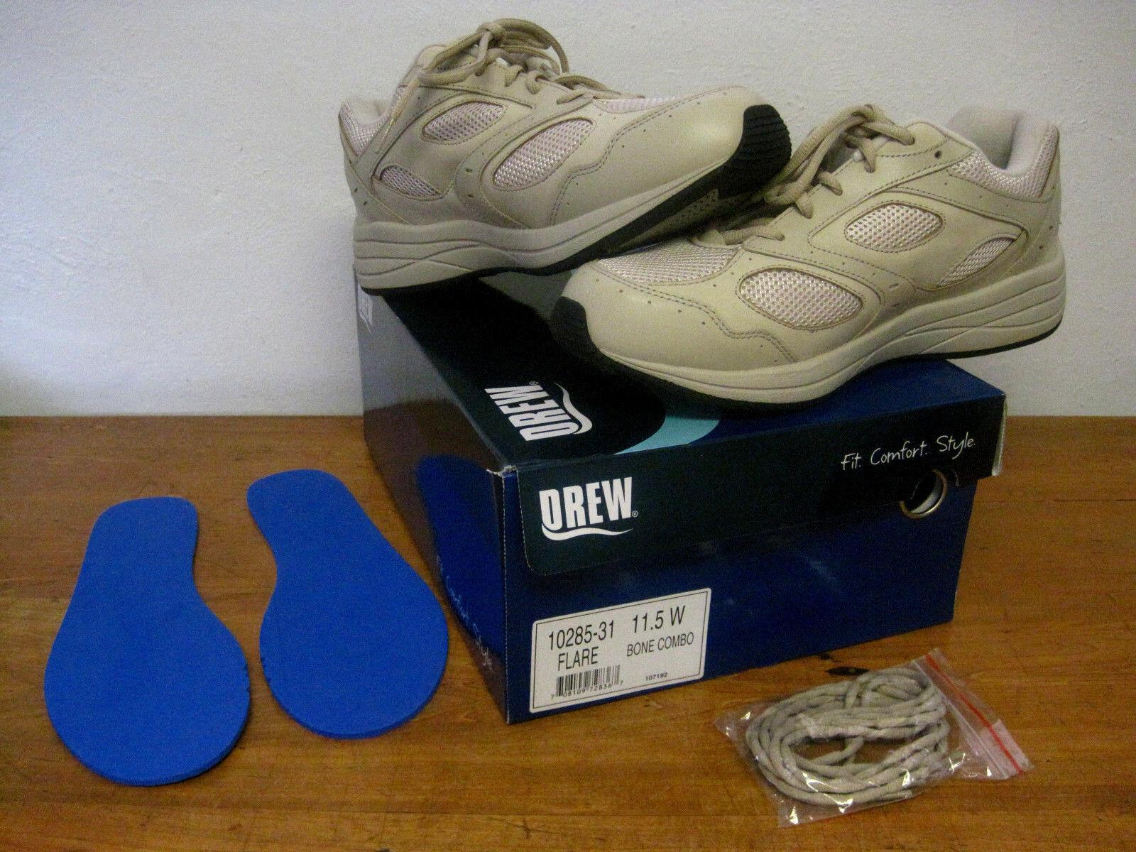 NEW Women's DREW Flare Bone Combo 10285-31 Leather Orthotics Sneakers Sz 11.5 W