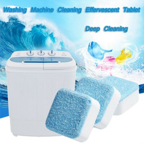 20PC Washing Machine Cleaning Effervescent Tablets Washer Cleaner Deep Descaler