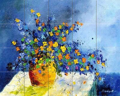 Art Flowers Vase Mural Ceramic Bath Backsplash Tile #66