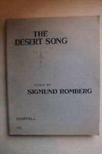 Details about The Desert Song By Sigmund Romberg - Mixed Choir Full Score  208 pages