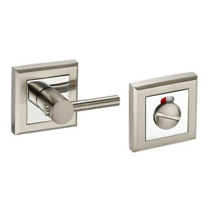 includes Spindle and screws PAA Bathroom Thumbturn Turn Release for WC Toilet