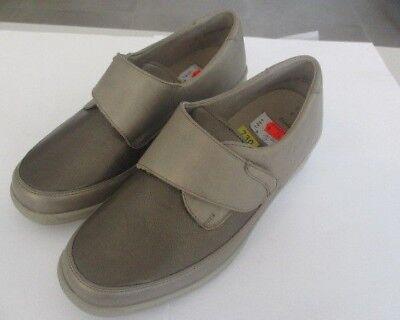Solidus HEDDA Damen Komfort Schuhe beige grau, Klettverschluss Weite K (k3) | eBay
