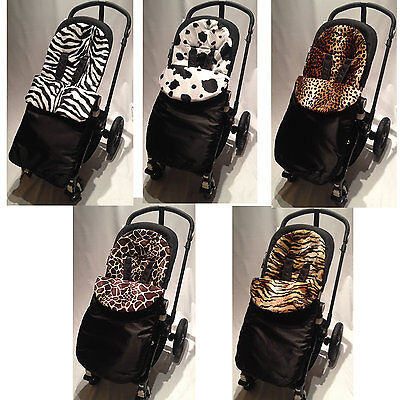 Animal Print Padded Footmuff Compatible With Uppababy Vista Cruz G Luxe Ebay