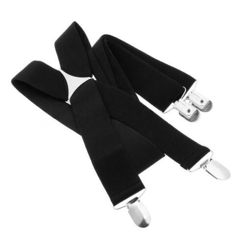 Réglable Bretelles pour Pantalon X Forme Large 35mm Elastique Homme Sangle Neuf