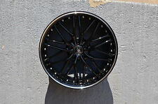 Set of 4 Wheels 19 inch Black Machined Rims 19x8.5 fits INFINITI G37 COUPE
