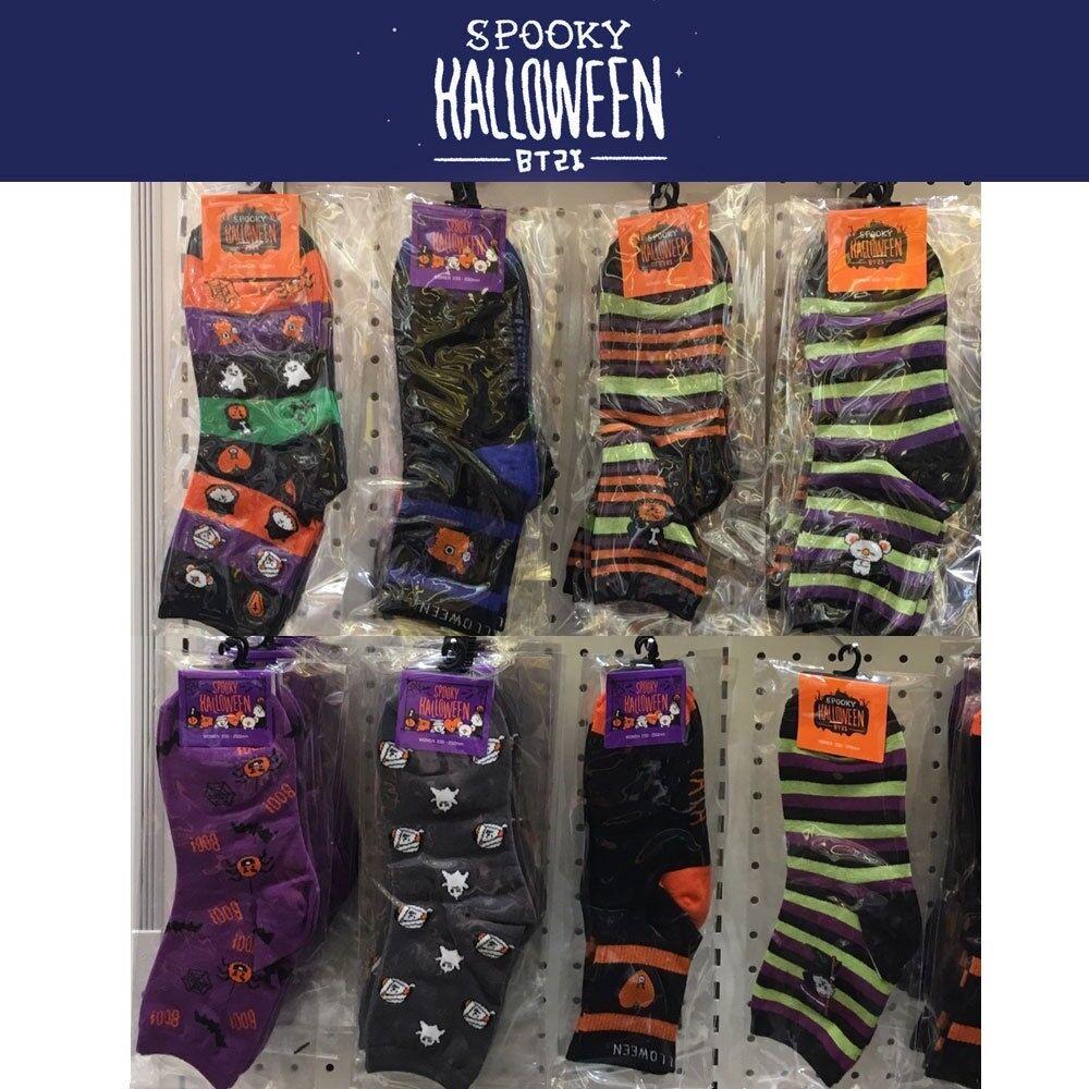 BTS BT21 Official Authentic Goods Women Socks Halloween Ver 8Set