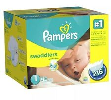 Pampers Swaddlers Diapers Size 1, 216 Count NO SALES TAX