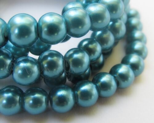 150 Or 300PCs Teal 6mm Round Wholesale Glass Pearl Beads G0100-75