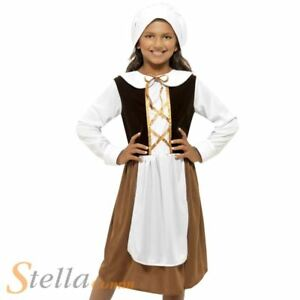 Image is loading Girls-Tudor-Girl-Costume-Victorian-Maid-Orphan-Child-  sc 1 st  eBay : victorian maid fancy dress costume  - Germanpascual.Com