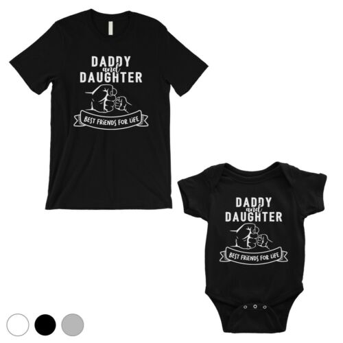 365 Printing Daddy Daughter Fist BFFL Dad and Baby Matching Outfits Father/'s Day