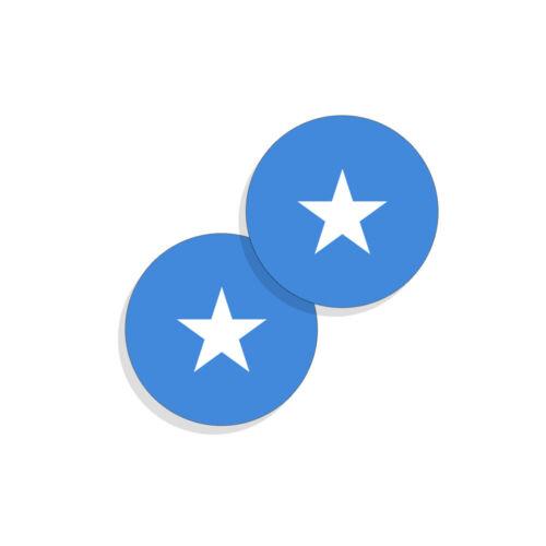 Somalia Flag Stickers Flag Decals Vinyl Round Set of 4 Somalian Flags