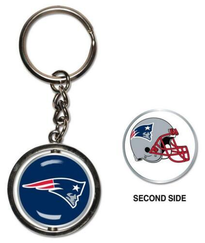 NEW England Patriots PORTACHIAVI spinning 2 sided key ring NFL Football