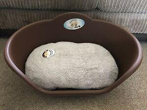 Brun Moyen Plastique Pet Bed Chat Chien Panier De Luxe Gris Polaire Lavable Coussin-afficher Le Titre D'origine Bon Pour L'éNergie Et La Rate