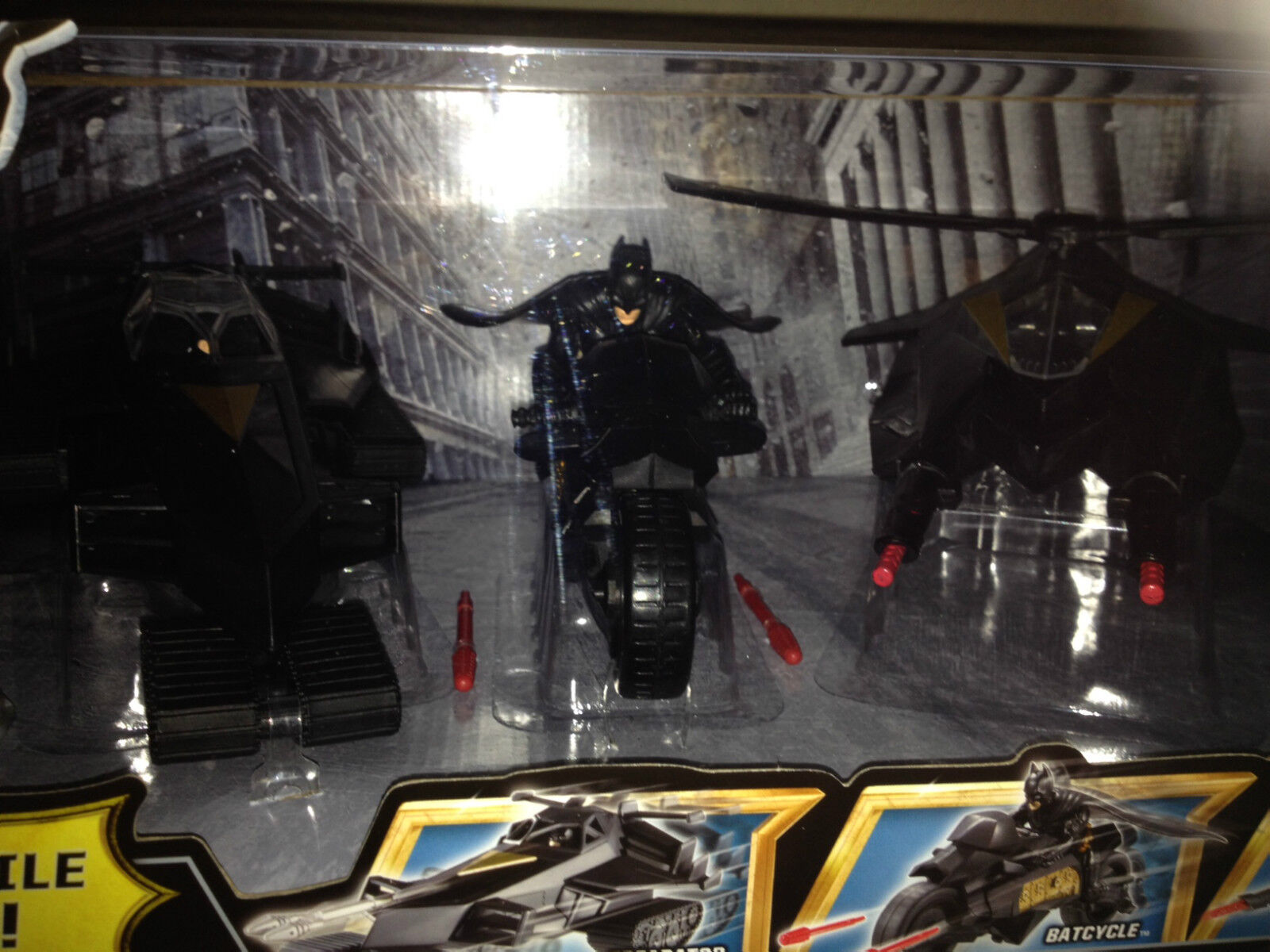 Batman the the the dark knight rises Squadron  Treadator batcycle and attack copter set 2a4a3d