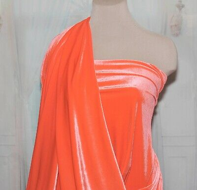 pageant home decor crafts 4 ways stretch..formal wear Stretch Spandex Velvet color BABY PINK bridal