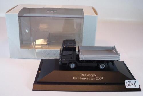 Herpa 1//87 mercedes benz 2841 actros kipper kundencender 2007 OVP #5848