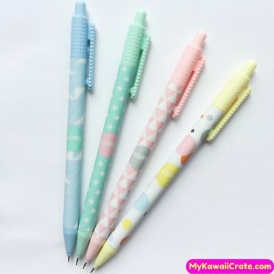 8pcs Cute Cartoon Kawaii Mechanical Pencils 0.5mm School Supplies Stationery