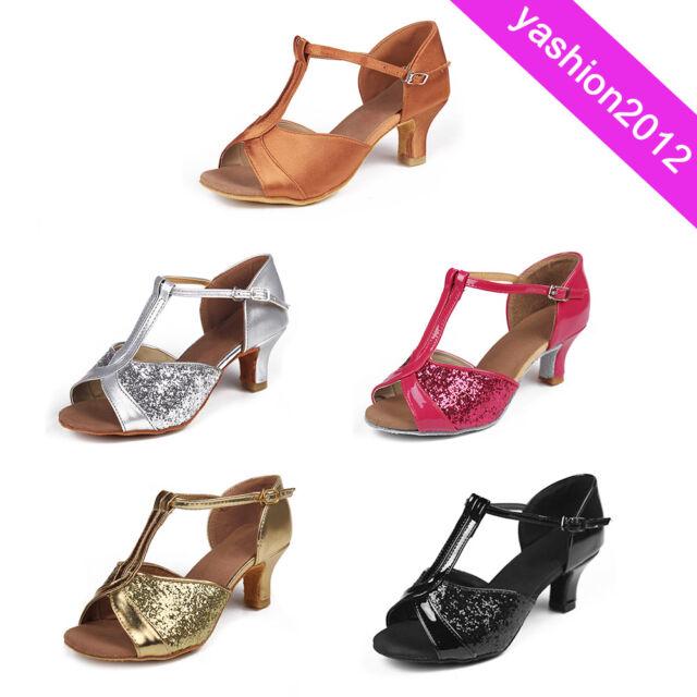 5cm Heels Women's Ballroom Latin Tango Dance Shoes Dancing Salsa 4 Colors 808